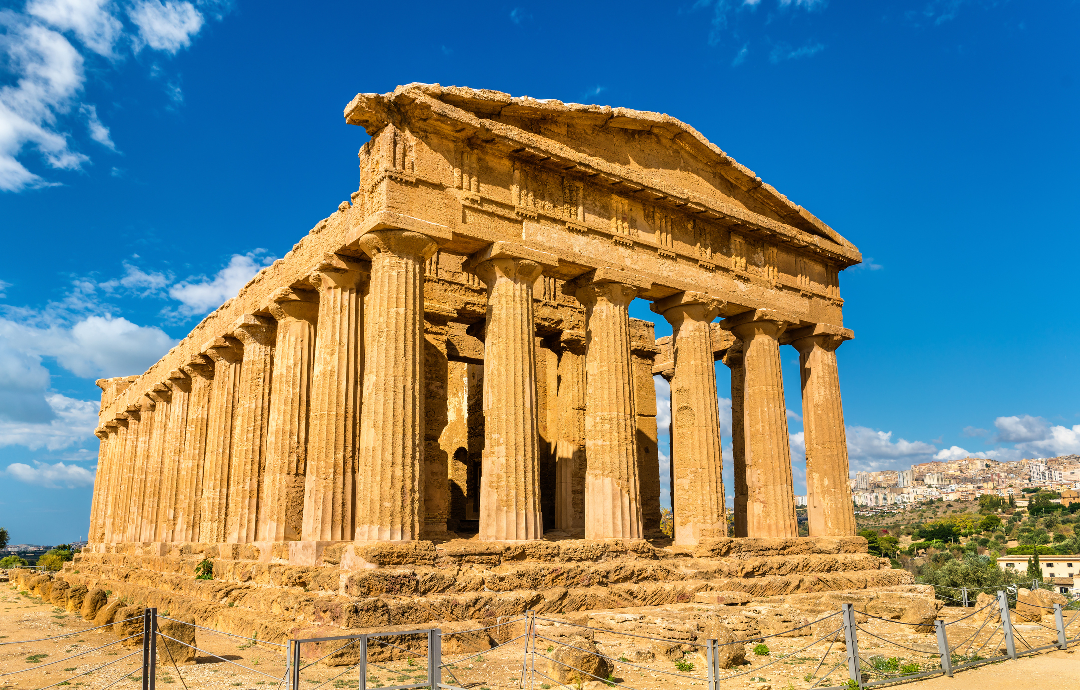 Temple of Concordia in the Valley of the Temples on Sicily, Italy